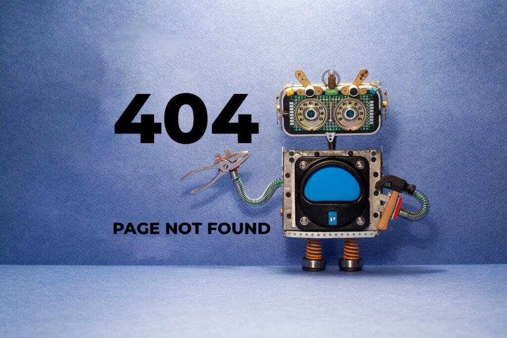 Website 404 Error