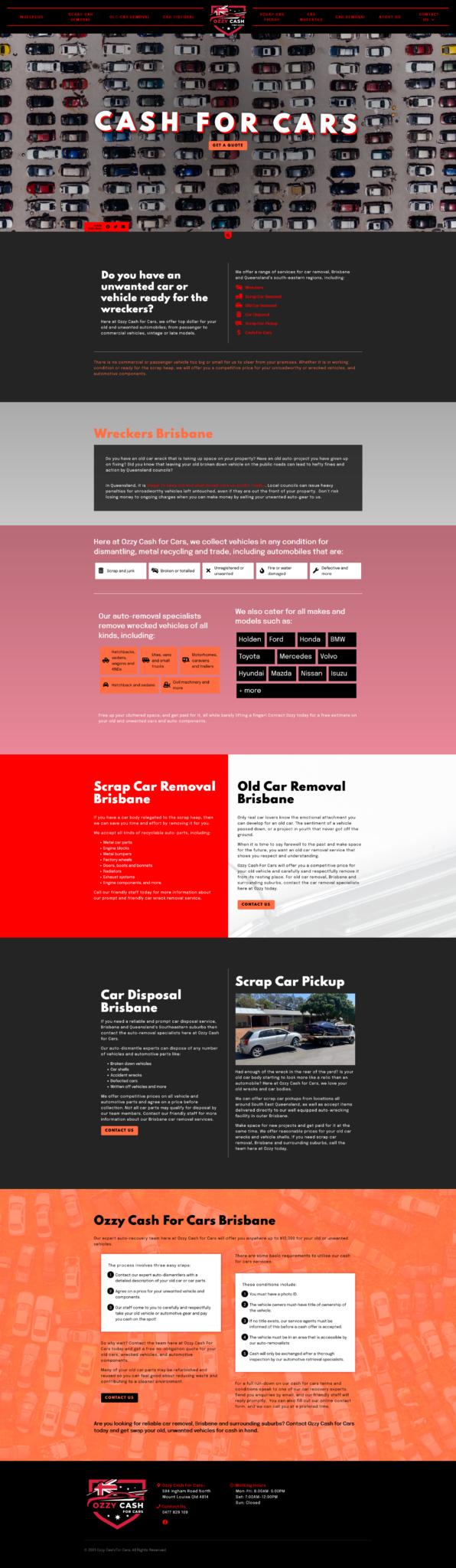 Ozzy cash for cars: Desktop View