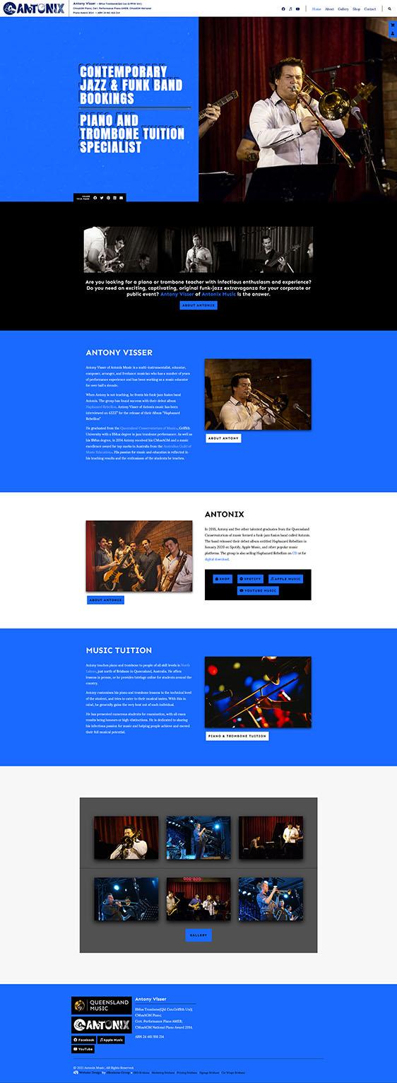Antonix Music Desktop View