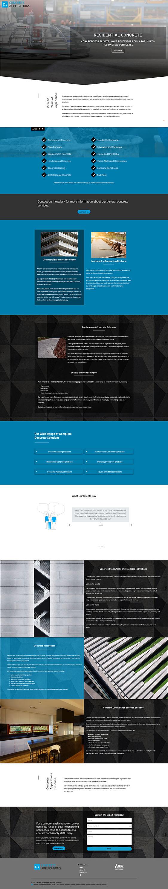 Concrete Applications: Desktop View