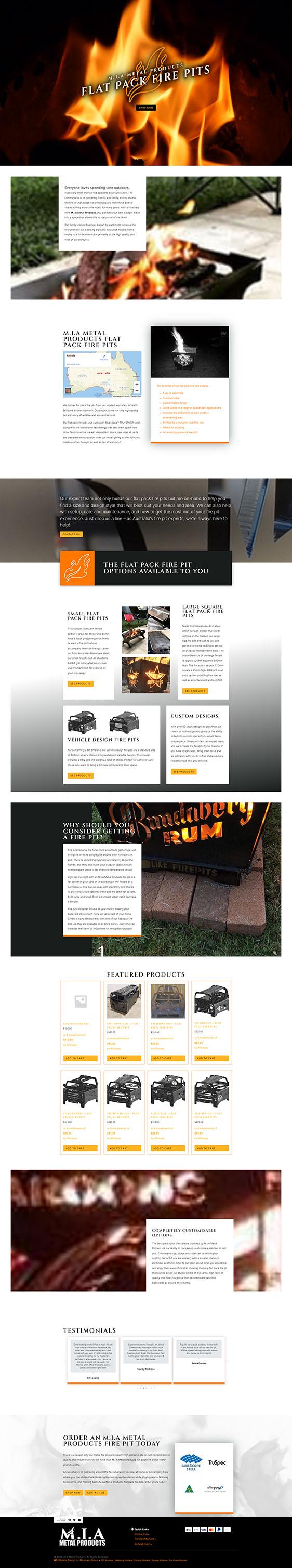 MIA Metal Products: Desktop View
